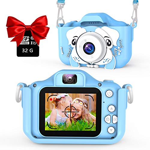 AOGELI Kids Camera for Girls Boys, Kids Selfie Camera, 20.0MP HD Digital Video Camera for Children, Dual Camera Camcorder, 2.0 Inch IPS Screen, 32GB Memory Card, Great Birthday Gift for 3-12 Y