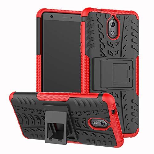 Labanema Nokia 3.1 2018 Hülle, Abdeckung Cover schutzhülle Tough Strong Rugged Shock Proof Heavy Duty Hülle Für Nokia 3.1 2018 - Rot