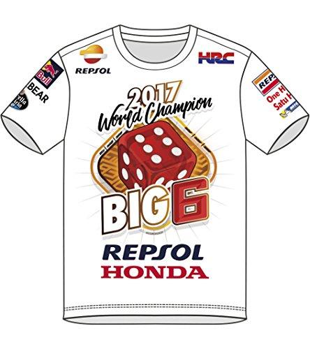 MotoGP Apparel mm932017World Feld T-Shirt, weiß, Größe XL