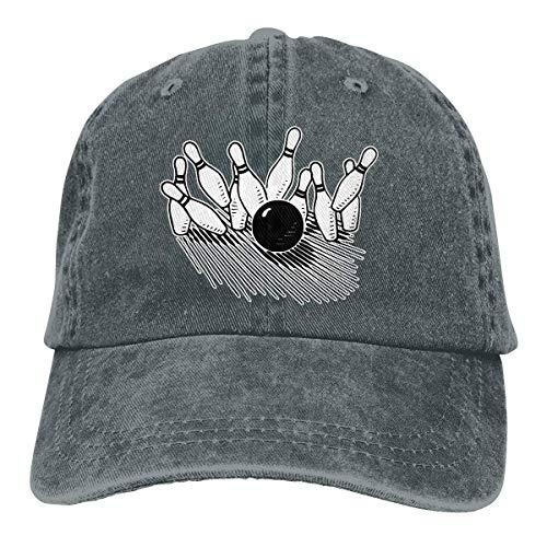Unisex Baseball Cap Baumwolle Denim Hut Bowling Ball Markante Bowling Pin verstellbare Snapback Solid Hat wunderschöne 3235
