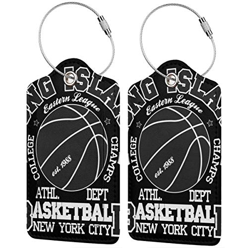 Basketball Sport Fashion Personalized Leather Luxury Suitcase Tag Set Travel Accessories Luggage Tags
