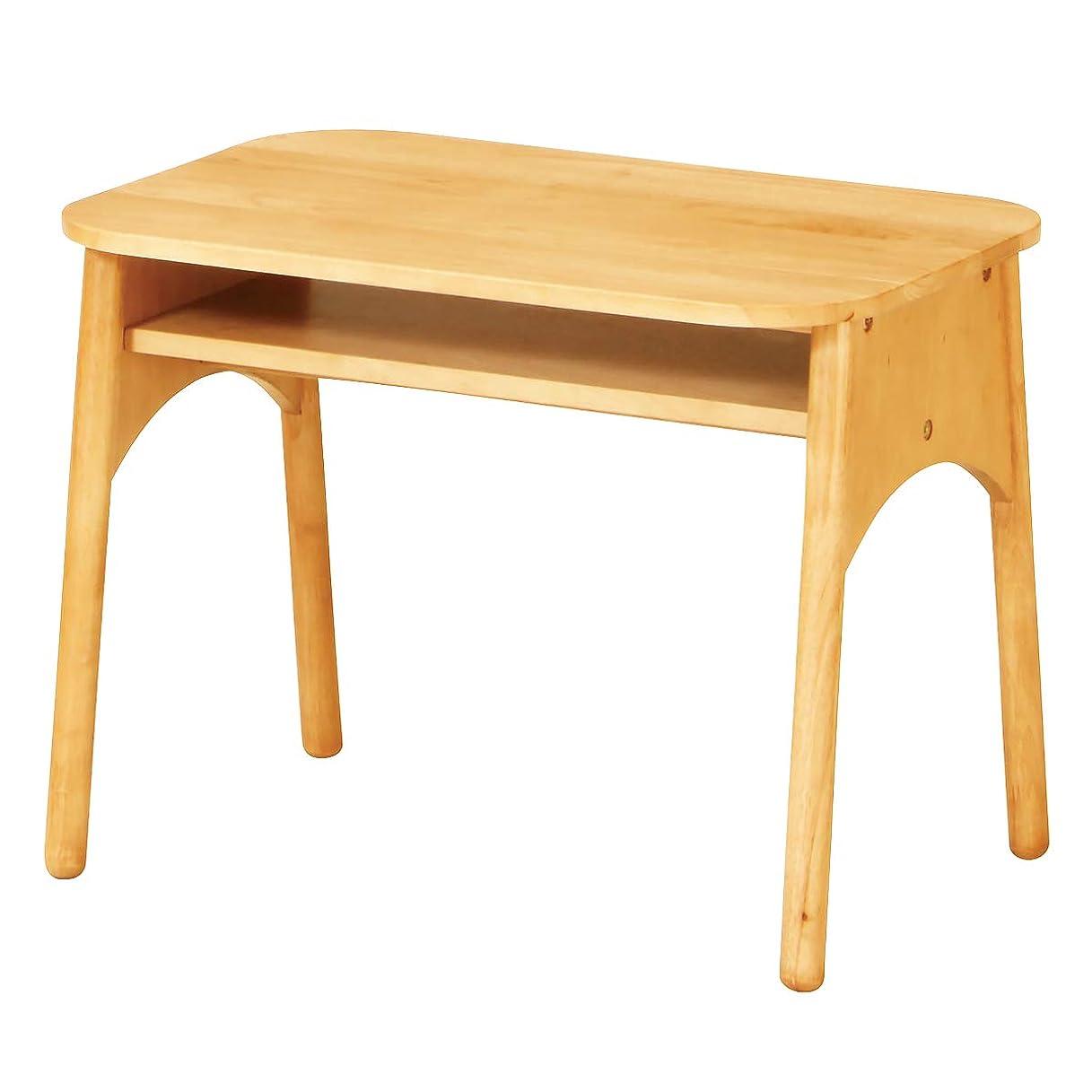もつれ思想賄賂BEATON JAPAN キッズテーブル 天然木製 子供用 デスク 収納棚付き 幅60cm ナチュラル
