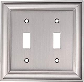 Allen + roth Cosgrove 1-Gang Satin Nickel Double Toggle Wall Plate