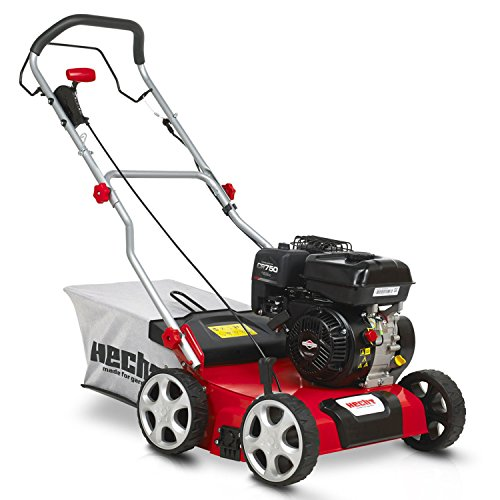 HECHT Benzin-Vertikutierer 5676 Rasen-Lüfter Briggs & Stratton Motorvertikutierer (3,3 kW (4,5 PS), 40 cm Arbeitsbreite, 6-fache zentrale Höhenverstellung, 45 Liter Fangkorb, Waslze: 18 Messer)
