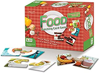 MKgames Matching Card Game, Two Pieces Puzzle for Kids - Food. Educational Game, Develops Cognitive, Learning & Fine Motor Skills. Helps Stimulate Conversation About Nutrition