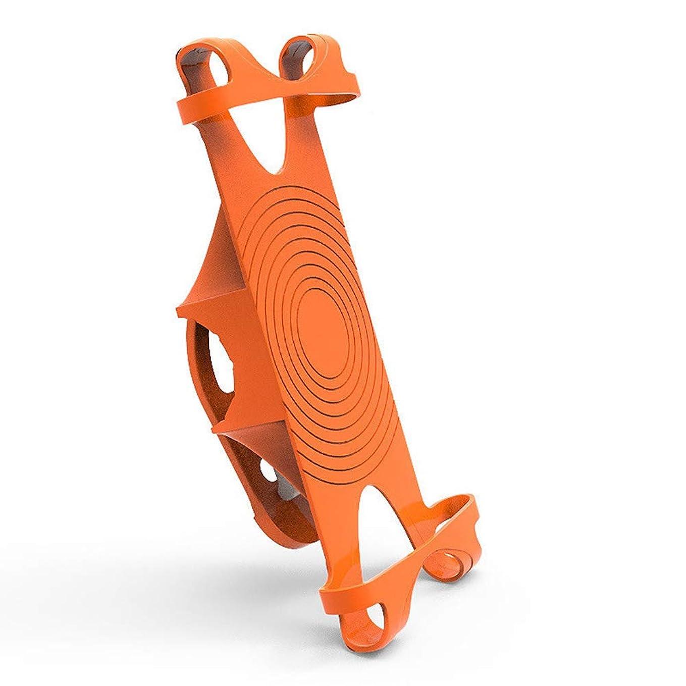 スクラップブックテラスモニター自転車シリコン電話ホルダー ユニバーサル自転車携帯電話ブラケット オートバイ携帯電話ホルダー 自転車電話マウント 4.2-6.5インチの携帯電話に対応