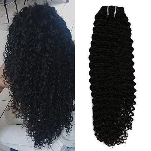 Moresoo 24 pulgada Extensiones de Clip de Pelo Natural Negro #1B Kinky Curly Extensiones de Cabello Natural Clip in Pelo Humano Extensiones de Clip de Pelo Natural 7pcs 100g