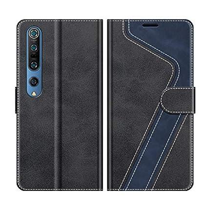MOBESV Funda para Xiaomi Mi 10, Funda Libro Xiaomi Mi 10 Pro, Funda Móvil Xiaomi Mi 10 Magnético Carcasa para Xiaomi Mi 10 / Mi 10 Pro Funda con Tapa, Negro