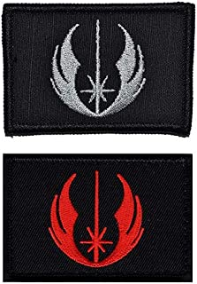 Antrix 2 Pieces Tactical Star War Jedi Order Galactic Republic Morale Patch Hook and Loop Fastener Star War Jedi Order Military Applique Emblem Patch -3.15