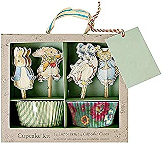 Rabbit Bunny and Friends Cupcake Toppers Kit Dessert Decoration Cupcake Toppers Party Supplies