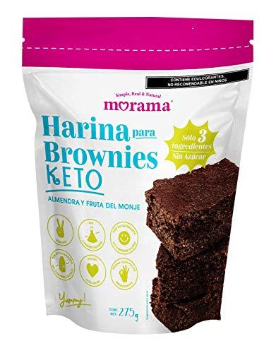 Morama, Harina para Brownies KETO, 275 gramos