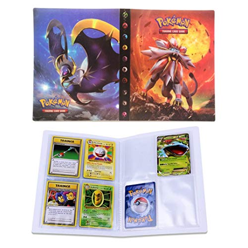 Dorara Tarjeta de Comercio Álbum, GX y EX Cartas Pokemon Álbum, Carpeta Cartas Pokemon, Album Pokemon Puede acomodar 120 Tarjetas Individuales o 240 Tarjetas Dobles (Sun and Moon)
