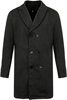 New Winter Men Slim Stylish Trench Coat Double Breasted Long Jacket Parka