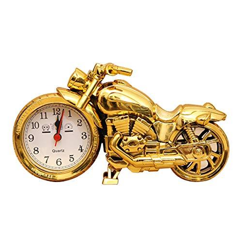SH-RuiDu Reloj despertador modelo bicicleta reloj despertador regalo para hombres color de tungsteno con pilas