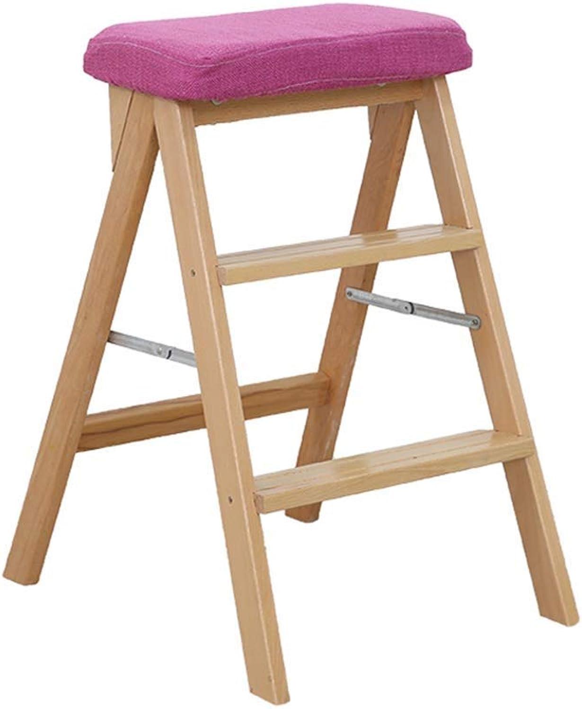 en venta en línea FOLDSS Taburete Plegable, Escalera de Madera de 3 Pasos Pasos Pasos Escalera Antideslizante Biblioteca Dormitorio Sala de EEstrella Fácil de almacenar 42 × 48 × 67 cm ( Color   Wood Color )  envío gratuito a nivel mundial