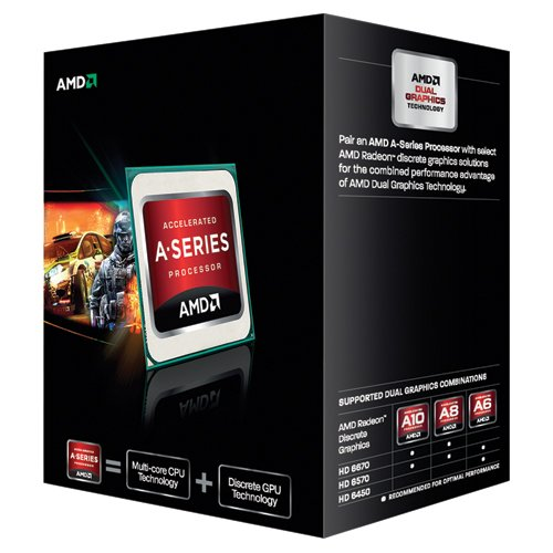 AMD A6-Series APU A6-5400K with Radeon HD 7540D - Procesador para ordenador (3,6 GHz, 1 MB de caché, 2 Core, zócalo FM2, 65 W)