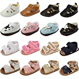 Bebeii Baby Boys Girls Closed-Toe Leather Sandals Toddler Infant Summer Outdoor First Walker Shoes, B-coffee, 0-6 Months Infant