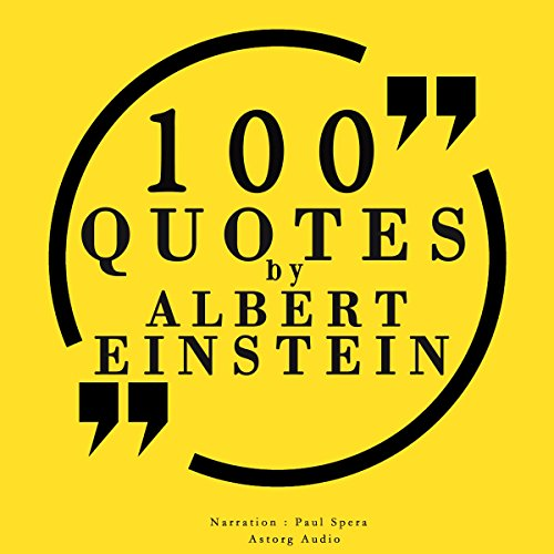 100 quotes by Albert Einstein audiobook cover art