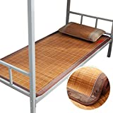 Summer Sleeping Mat Bamboo, Student Single Bed Foldable Refreshing Breathable Sweat Constant Temperature, 7 Styles, 4 Sizes (Color : G, Size : 100190cm)