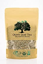 Olive Leaf Tea - Certified Organic - Non-GMO (4 ounce) - Sourced from Spain and Manufactured in USA - Loose Leaf Herbal Tea - Antioxidant Immunity Supplement for Health Wellness & Vitality