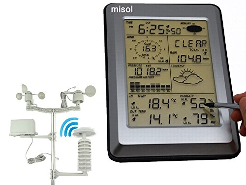 MISOL Estación Meteorológica Profesional/ sensor solar/ interfaz de PC