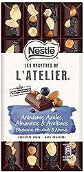 Nestlé Les Recettes De L'Atelier Chocolate Negro con Arándanos Azules, Almendras Y Avellanas, 170g