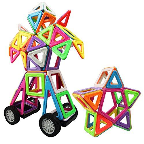 Innoo Tech 77 Teile Magnetische Bausteine, 2rd Generation groeße Bauklötze, Inspirierender Standard Bausatz, Konstruktions bausteine Magnetspielzeug, Tolles Geschenke für Kleinkinder