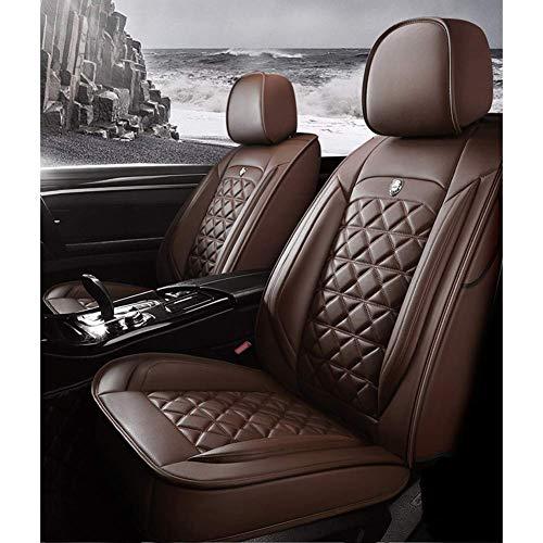 Protectores de Fundas de Asiento de Coche Cojines Impermeables de Cuero de PU para Asiento de Coche Juego Completo (5 Asientos), Universal para BMW 1 3 5 7 Serie X1 / X3 / X5 / X6 (Color: Ro