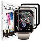 【2枚セット】 Apple Watch Series5 / Series4 44mm ガラスフィルム 硬度9H 高透過 指紋防止 気泡防止 強化ガラス 液晶保護フィルム 【BELLEMOND】 AppleWatch 5/4 44mm 2枚 587