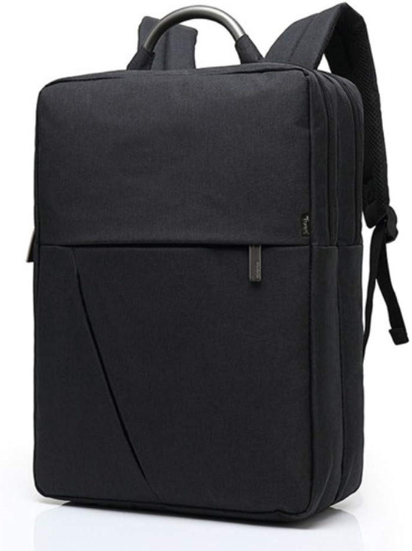 Mode für Mnner Rucksack Canvas wasserdicht Business Casual Rucksack Schultasche Laptop-Computer Tasche für mnnliche Jungen, schwarz