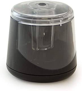 It's Academic Desktop Twin-Blade Auto Pencil Sharpener, Battery-Operated and Compact, Black