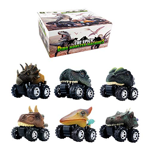 Product Image of the DINOBROS Dinosaur Toy Pull Back Cars 6 Pack Dinosaur Boy Toys Age 3,4,5,6,7 Dino...
