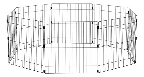 IRIS Wire Exercise Pet Pen, 24-Inch, Black