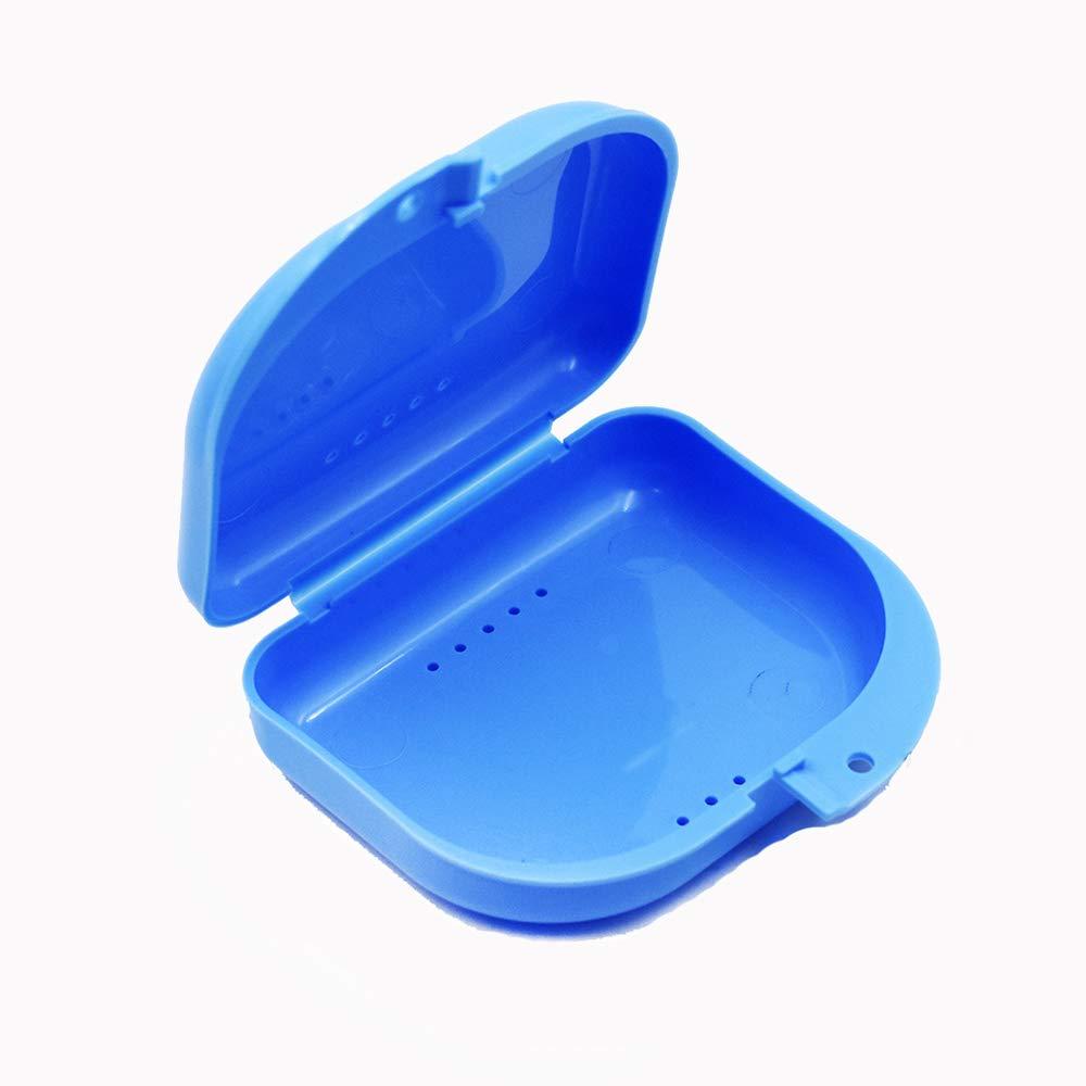 Ogquaton Estuche de Almacenamiento Dental Caja de retenedor de Caja de dentadura Ortodoncia Contenedor Bandeja de Boca para Guardia Deportivo Dentaduras postizas: Amazon.es: Hogar