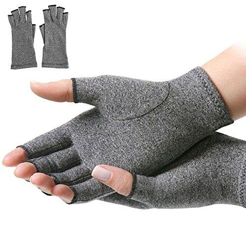 Kompressions-Handschuhe für Frauen und Männer, von Ärzten geschriebenes Handbuch (evtl. nicht in deutscher Sprache), lindert Symptome von Arthritis, Raynaud-Krankheit und Karpaltunnelsyndrom, 1 Paar