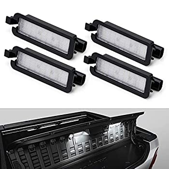 iJDMTOY  4  3x Brighter 18-SMD Full White LED RamBox Interior Light Replacement Compatible With 2019-up Dodge RAM 1500 2020-up RAM 2500 3500 Truck Bed Storage Box