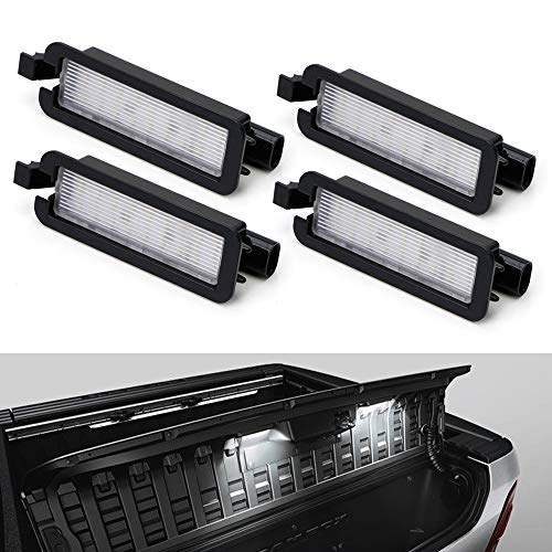 iJDMTOY (4) 3x Brighter 18-SMD Full White LED RamBox Interior Light Replacement Compatible With 2019-up Dodge RAM 1500, 2020-up RAM 2500 3500 Truck Bed Storage Box
