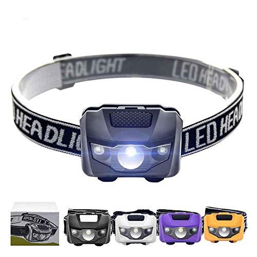 XWYWP Linterna frontal 4 modos impermeable Q5 LED LED linterna frontal súper brillante linterna frontal linterna superior AAA linterna con diadema AllBlack