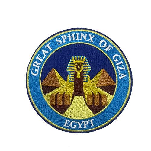 Sphinx ギザの大スフィンクス エジプト 刺繍 アップリケ ワッペン アイロン パッチ 海外旅行用品