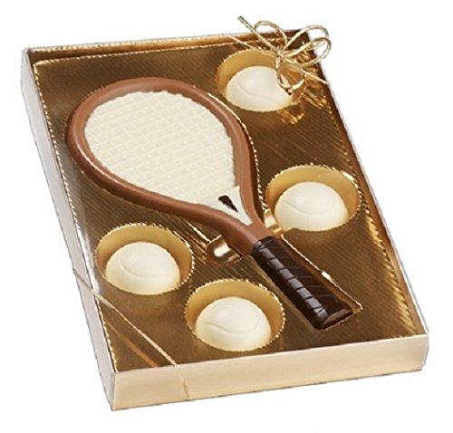 03#092921 Schokoladen Tennis Set, Tennis, Tennisspieler, Muttertag, Geburtstag, Geschenke, Geschenk, NEU