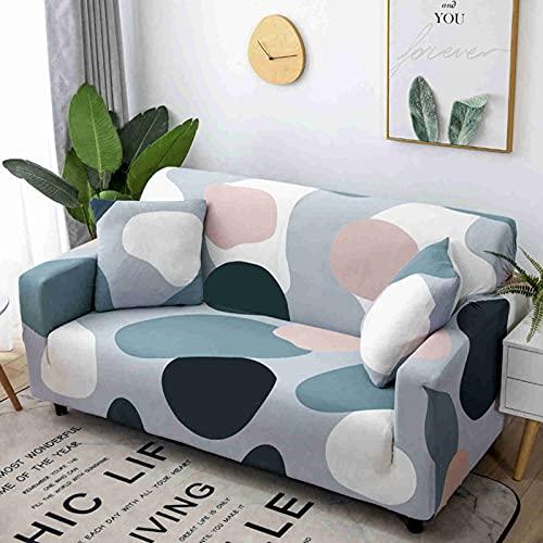 DWSM - Juego de funda elástica para sofá 1 2 3 4 plazas, extensible, funda de protección extensible con reposabrazos (K,3 plazas)