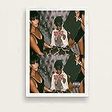 yaofale Sin Marco Playboi Carti álbum de música Popular Hip Hop Rap Star Art Pintura Lienzo póster Pared decoración del hogar decoración del hogar 60x90cm