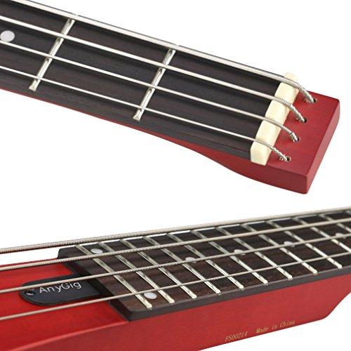 AnygigAGBベースフルスケールの長さトラベルベースギターバックパッカーポータブルチェリー