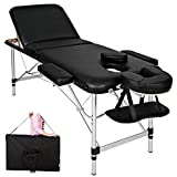 TecTake Table de massage pliante aluminium...