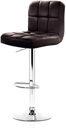 Bar Stools 2 Pcs Swivel Tufted PU Leather Foam Round Stand Counter Stool Height Ajustable Metal Barstools with Gas Lf...