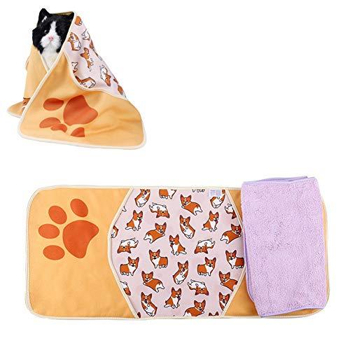 HEELPPO Toallas para Mascotas Toalla De Microfibra Toalla para Perros Qué Toalla para Mascotas Toalla para Mascotas con Bolsillo Respetuoso con La Piel Y Transpirable Dog