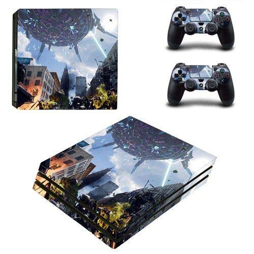 Calantha & Partner PS4 Pro Skin and DualShock 4 Skin - Space war - PlayStation 4 Pro Vinyl Sticker for Console and Controller Skin