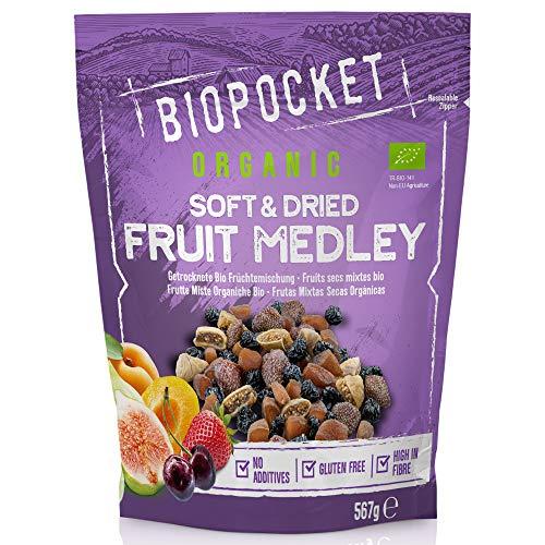 Biopocket - Cóctel de frutas secas ecológicas, 567 g