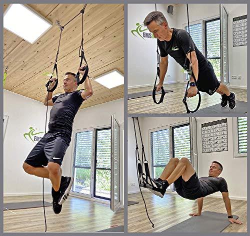 eaglefit Sling-Trainer Multi inkl. Umlenkrolle und Edelstahl-Deckenhalterung - zu Hause trainieren, 1 DH