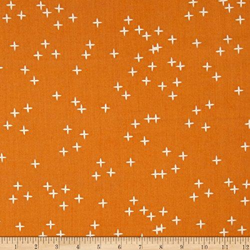 Birch Organic Fabrics Birch Organic Mod Basics 3 Wink Orange Fabric by The Yard